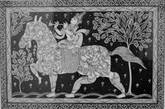 The Love of the Gopis – Beauty Interprets, Expresses, Manifests the Eternal Art Drawings Beautiful, Dark Art Drawings, Outline Drawings, Madhubani Art, Madhubani Painting, Bird Coloring Pages, Colouring, Shiva Tattoo Design, Kalamkari Painting