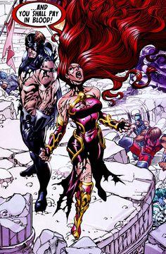 Black Bolt and Medusa in War of Kings: Inhumans