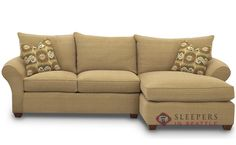 Flagstaff Chaise Sectional Sleeper Sofa by Savvy - for basement?