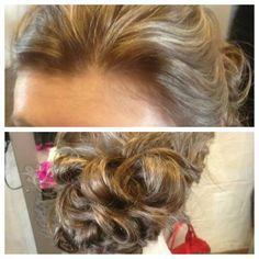 Wedding hair ideas for my client.