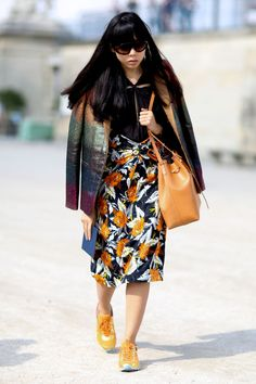 Susie Lau. Paris Fashion Week street style. Photo: Imaxtree