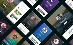 User Profile UI kit by SuperCogs on @creativemarket