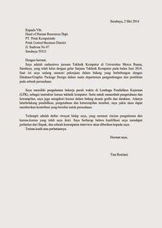 surat lamaran kerja arsitek - Cover Letter Sample For Fresh Graduate