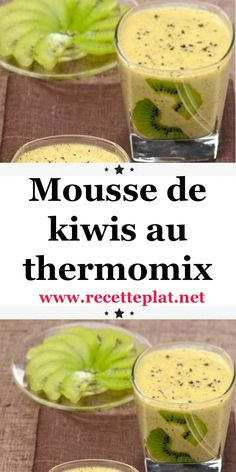 Here is a recipe for kiwifruit mousse with Thermomix, a sweet and light dessert perfect to finish the meal on a tangy note. This foam is perfect for refueling, knowing that kiwi contains more vitamin C than orange. Mousse Dessert, Kiwi Dessert, Thermomix Desserts, Ww Desserts, Holiday Desserts, Brunch, Parfait, Yummy Food, Orange