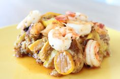 Two words in the seafood recipe submitted by Rachel Virden for the Primal Blueprint Reader-Created Cookbook Contest caught our eye immediately: Summer and Squash. Yes, we loved the combination of shrimp and sausage (who wouldn't?) and the intensely savory flavor that only comes from sautéing with bacon fat. We were amazed by the way a [...]