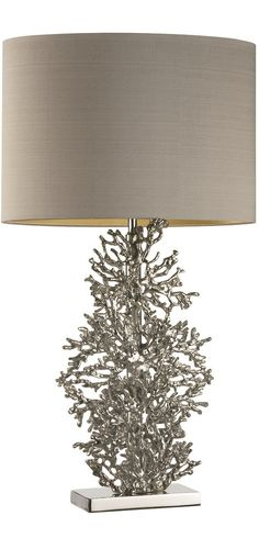 Looks like a pain in the ass to dust... but i love it!!! Designer Silver Coral Table Lamp,  courtesy of InStyle Decor Beverly Hills enjoy & happy pinning