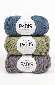 DROPS Paris - Fun and easy to knit cotton! Laine Drops, Garnstudio Drops, Drops Paris, Yarn Color Combinations, Yarn Colors, Colours, Magazine Drops, Drops Design, Yarn Inspiration