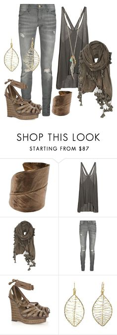 """Boho Chic"" by daniraine ❤ liked on Polyvore featuring RANYA SARAKBI, Helmut Lang, AllSaints, Current/Elliott, Bottega Veneta, Calico Juno Designs and Forever 21"