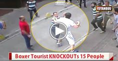 Boxer Tourist KNOCKOUTs 15 People in Turkey