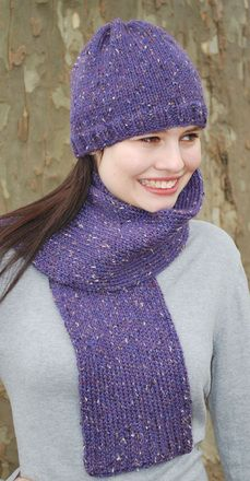Knitting Loom ~ Basic Stockinette Hat and Scarf ~ Free Pattern