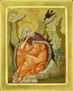 Icon of Prophet Elias Byzantine Icons, Byzantine Art, Religious Icons, Religious Art, Religious Paintings, Prophetic Art, Orthodox Icons, Dark Ages, Saints