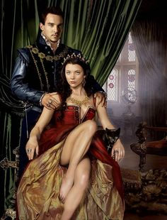 "Jonathan Rhys Meyers as King Henry VIII Natalie Dormer as Queen Anne Boleyn in ""The Tudors"". This was a publicity shot for a contest to meet the cast the costumes were not standard to the period. Jonathan Rhys Meyers, Enrique Viii, Los Tudor, Michael Weatherly, King Henry Viii, Kino Film, Outlaw Queen, Madame, Gossip Girl"