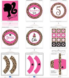 Barbie Birthday Party Printable Decor  by partypapercreations, $22.00