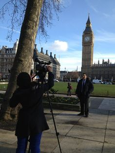 PRCA public affairs group film their group video, 8 February