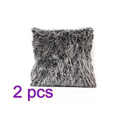Tinksky Pillow Covers Throw Pillow Case Cushion Cover Soft Plush Pillow Cover for Sofa Home DecorationPack of 2 Deep Grey ** Read more at the image link. (This is an affiliate link) Plush Pillow, Throw Pillow Cases, Throw Pillows, Christmas Pillow Covers, Sofa Home, Decorative Pillows, Image Link, Cushions, Deep