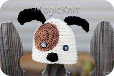Puppy Dog Newborn Baby Crochet Hat