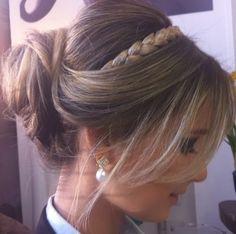 Madrinhas de casamento: Penteados de festa: coques com trança e solto
