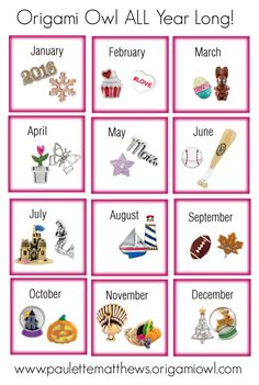 """""""Origami Owl All Year Long"""" by paulette-matthews on Polyvore"""