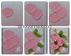No automatic alt text available. Acrylic Painting Flowers, Simple Acrylic Paintings, Tole Painting, Fabric Painting, Nail Jewels, Flower Nail Art, Nail Envy, Foto Art, 3d Nails