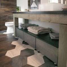 Bathroom Makeovers Penrith allen + roth eastcott 42-in w x 30-in h auburn rectangular