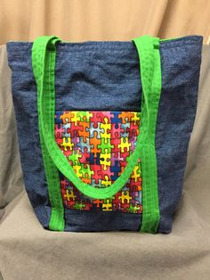 AUTISM AWARENESS Tote Bag by NanasSweeties51 on Etsy