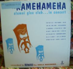 "Hawaiian record. ""Songs Of The Pacific In Concert"" by The Kamehameha Alumni Glee Club.  Honolulu, Hawaii, Hula HS-504, stereo, no date given. tiki."