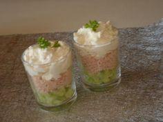 Verrine+concombre+jambon+et+crème+boursin+ail+et+fines+herbes