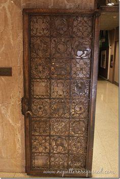 Metal door at the Milwaukee Public Museum