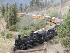 Durango Silverton Colorado train trip
