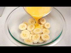 Recept pouze na 1 banán a 2 vejce! Žádné triky. Jednoduchý recept na snídani - YouTube Banana Breakfast Recipes, Breakfast Waffles, Banana Recipes, Cake Recipes, 4 Ingredient Recipes, Banana And Egg, Pan Dulce, Easy Meals, Cooking Recipes