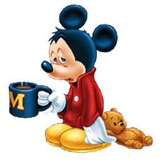 Mickey needs coffee!