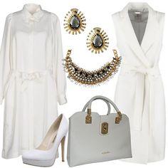 e503822498 Sofisticato bianco: outfit donna Chic per ufficio e tutti i giorni | Bantoa