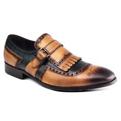 Azzuri ZM3770 Brown Black Shoes