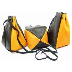 Kožený MAXI měšec oranžový - peněženky AHAL Drawstring Backpack, Bucket Bag, Gym Bag, Backpacks, Unisex, Bags, Handbags, Drawstring Backpack Tutorial, Pouch Bag