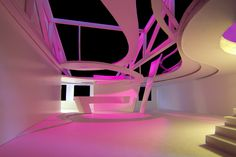 Light Center Speyer - architectural model in pink by Peter Stasek Architect