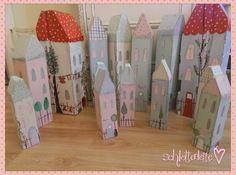 Deko-Objekte - riesiges Holzhaus,pastell 70 cm Tildastil,Shabby 5 - ein…