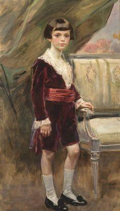 """Portrait of Karol Krystall"" (1923) by Wojciech Kossak (Polish,1857 - 1942); oil on canvas, 130,5 x 104, National Museum, Warsaw."
