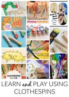 School Time Snippets: Learn and Play Using Clothespins. Great for Fine Motor Practice! Pinned by SOS Inc. Resources. Follow all our boards at pinterest.com/sostherapy/ for therapy resources.