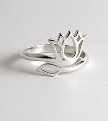 Sivana — Silver Lotus Ring for $68.00