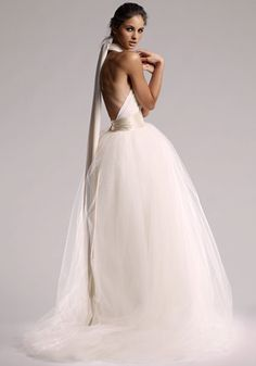 "VINTAGE ORIGIN Infinity Wedding Dress in ""Pearl"" (Fall/Winter 2011 Collection) by Lindsey Anne Burris"