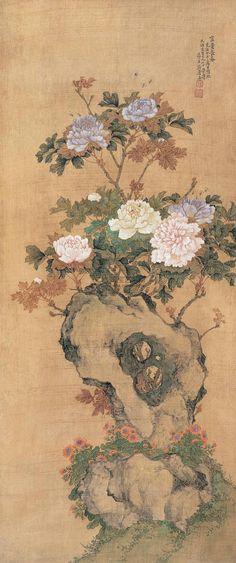 居廉作品欣赏 - 山野村夫 - 山野村夫 Japan Painting, Ink Painting, Korean Art, Asian Art, Chinese Painting, Chinese Art, Asian Flowers, Japanese Drawings, Ink In Water