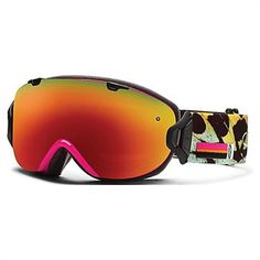 bda5f63822cc Smith I O S Snowboard Goggles - Shocking Pink Migration Red Sol-X Mirror +  Red Senor Mirror Lens