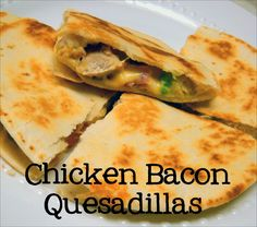 Chicken Bacon Quesadillas (I also need to look into this woman's make ahead meal plan. It sounds more doable than once a month cooking.)