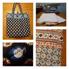 A Little Dancer: Vera Bradley Bag Tutorial could I commission you to make one? Handmade Purses, Handmade Handbags, Homemade Bags, Vera Bradley Patterns, Tote Tutorial, Easy Sewing Projects, Sewing Ideas, Sewing Diy, Vera Bradley Purses