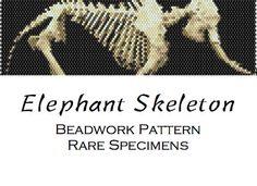 Elephant Skeleton Peyote/Brick Stitch Pattern by RareSpecimens