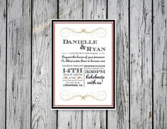 Simple Wedding Invitation / DIY Printing by RejoiceGraphics
