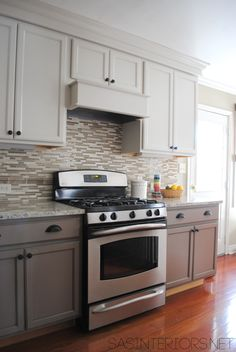 Two-toned kitchen cabinets provide an interesting and exciting variety to a .... A look I really love is to paint the top cabinets a light color, like white or a very pale ...