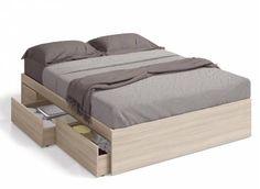 Queen bed for mattress with four drawers Room Design Bedroom, Bedroom Loft, Bedroom Decor, Bed Storage, Bedroom Storage, Diy Bed Headboard, Cama King, Upholstered Beds, Loft Spaces