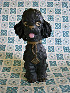 Sweet Vintage Poodle Figurine by dimestorechic on Etsy