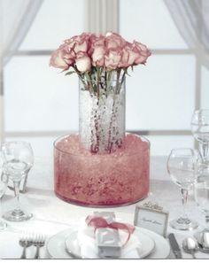 Love water/gel beads as vase fillers!